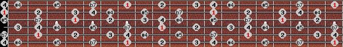 arabian scale on key B for Guitar